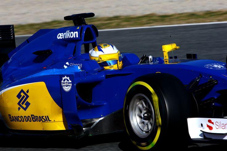 2015 pre-season - test two in #Barcelona. Day 3. Marcus Ericsson. Sauber F1 Team. ► Learn more about us on www.sauberf1team.com - #F1 #SauberF1Team #ME9 #MarcusEricsson #FN12 #FelipeNasr #SauberC34 #FormulaOne #Formula1 #motorsport #photography