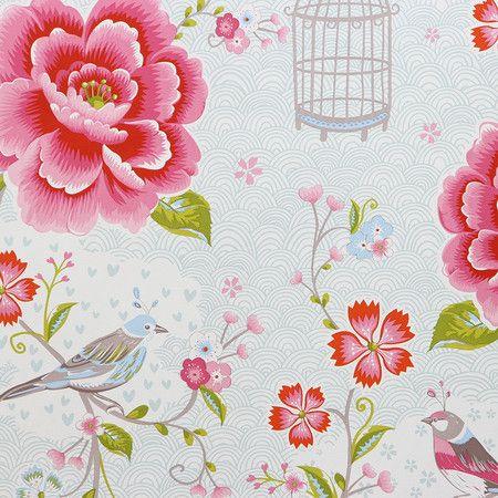 Pip Studio - Birds in Paradise Wallpaper - 313012 White