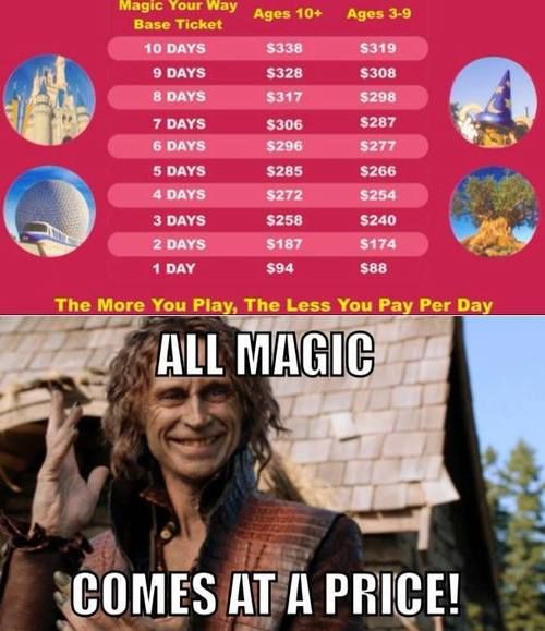 All magic comes at a price. <== Sad, but true.  And I'm definitely willing to pay it!