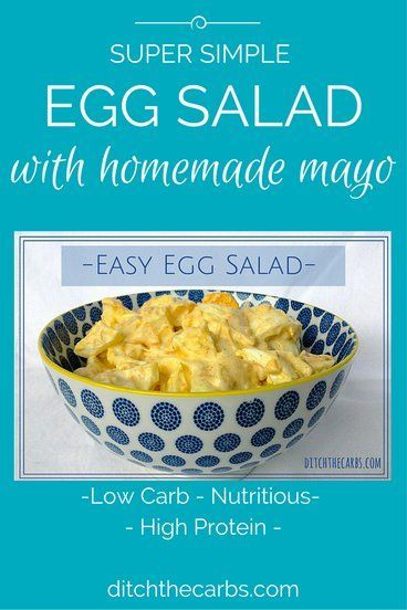 You must try they super simple egg salad. While the eggs are cooking make the homemade mayo recipe. No seed oils and no nasties, all healthy and nutritious. #lowcarb #sugarfree #glutenfree | ditchthecarbs.com