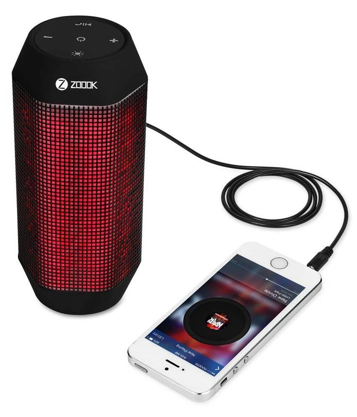 Zoook Rocker 2 Wireless Bluetooth Portable BT Speaker with Dynamic LED Lights and HD Sound