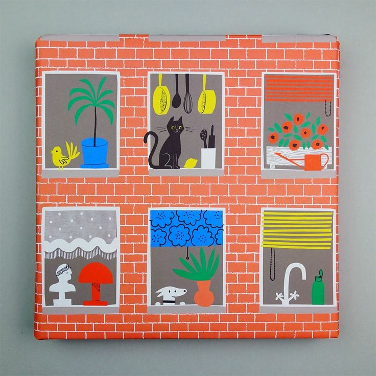 Apartment Wrapping Paper by Lisa Jones Studio #illustration
