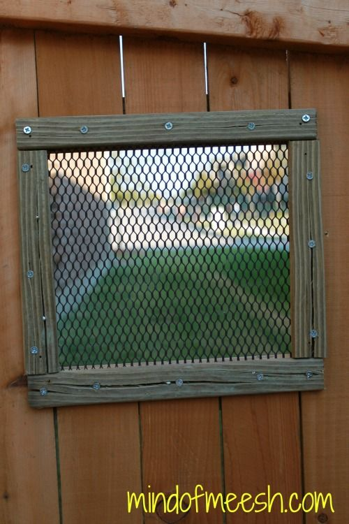 DIY Wooden Fence Window for Your Dog - Mind of Meesh