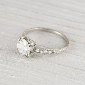 Image of .88 Carat Vintage Art Deco Engagement Ring