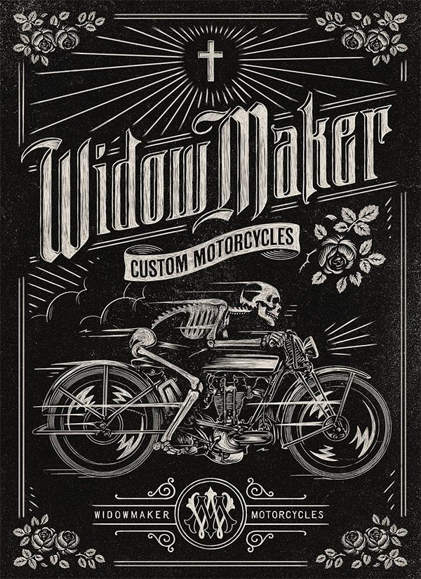 Widow Maker Motorcycles by Aaron von Freter | Article on 30 Vintage Designs for Custom Car & Motorcycle Brands by Chris Spooner