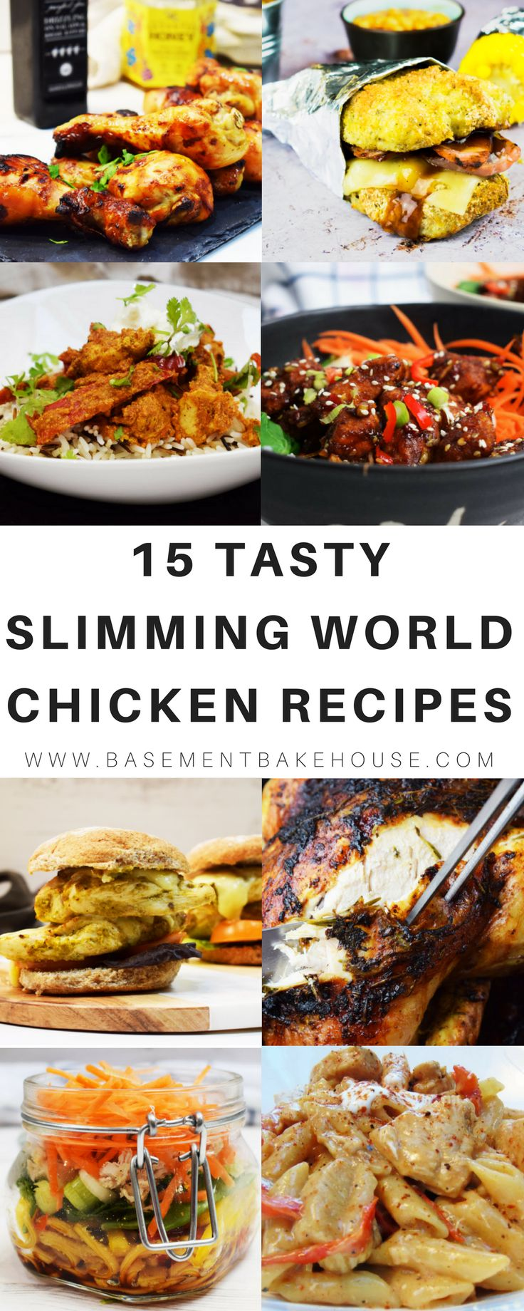 15 of the BEST Slimming World Chicken Recipes to try this week! Shake things up in the kitchen with some interesting healthy recipes and lots of inspiration for family friendly meals! From lunch time meal prep to comfort food dinners! - Basement Bakehouse #chickenfoodrecipes