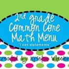 This is based off of my Second Grade CCSS Math Menu (which is free on my page). This is designed to be used similar to the CAFE bulletin board by t...