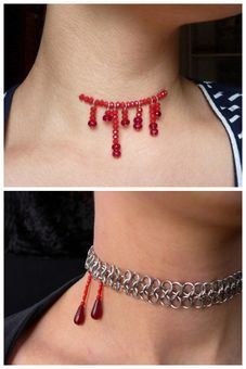 BUY or DIY 2 Sinister Necklaces.Top Photo: BUY - $22 Halloween...