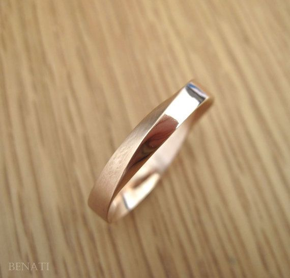Wedding Ring, 4.5mm Mobius Wedding Band, Wide Mobius Wedding Band, Modern Mobius…