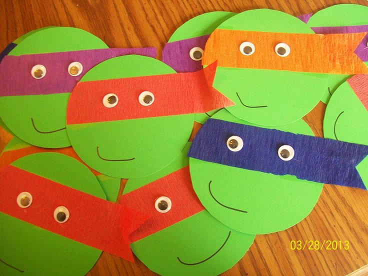 Ninja Turtles Birthday invitations.