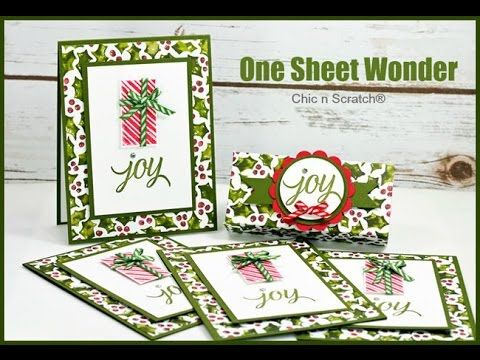 One Sheet Wonder - featuring Your Presents by Stampin' Up! - YouTube