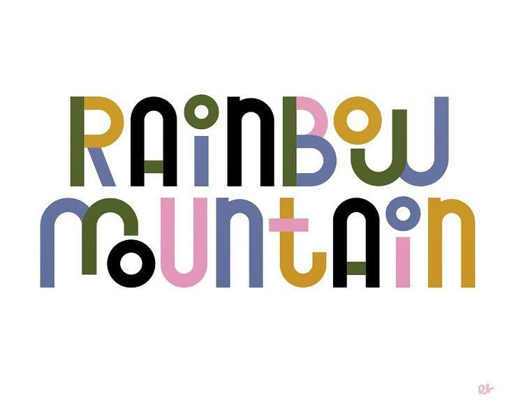 Rainbow Mountain on Behance
