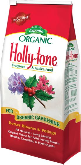 Espoma's Holly-Tone Plant Food is for acid-loving plants such as blueberries!