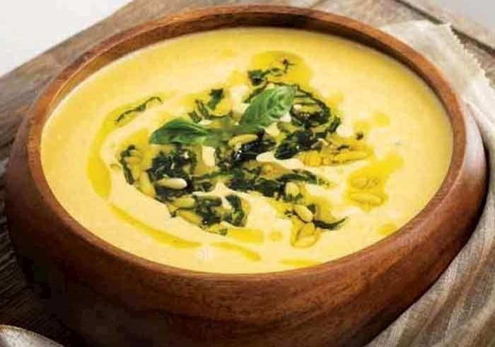 شوربة القرع العسلي أو اليقطين بالفستق والريحان Food Fruit Soup