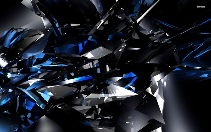 Black and blue crystals wallpaper 3d wallpapers 9419 for Black 3d wallpaper