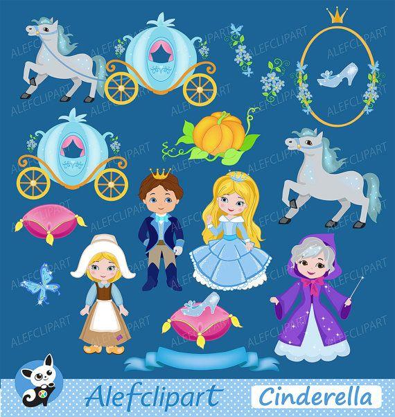 Cinderella Fairytale Princess Cinderella Digital by Alefclipart