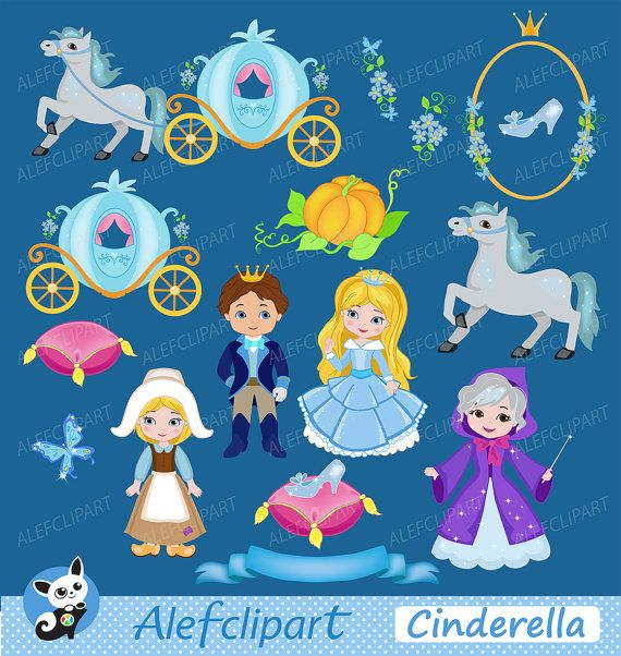 Cinderella Fairytale Princess Cinderella Digital by Alefclipart
