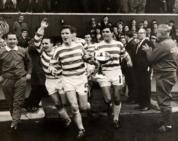 Celtic win the League Cup in 1965, beating Rangers in the final.
