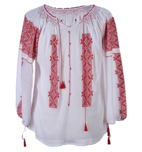BLOUSE ROUMAINE-ROMANIAN BLOUSE- TRADITIONAL HAND-MADE EMBROIDERY- €96.58
