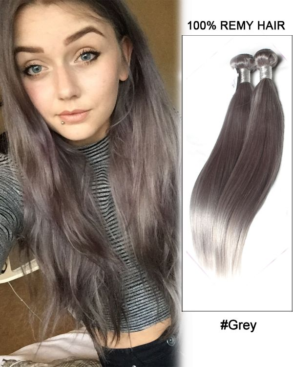 194 best feshfen hair weaveweft images on pinterest wig and 18dark grey weave straight weft remy human hair extensions pmusecretfo Image collections
