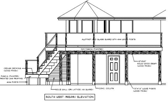 Second story deck deck plans and second story on pinterest for 3 story deck design