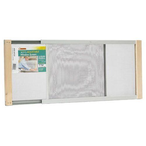 Frost King WB Marvin AWS1033 Adjustable Window Screen, 10in High x Fits 19-33in Wide - 10-Inch x 19-Inch - 33-Inch Metal Rail Extension Window Screen. This is a bright, mesh screen. Wire extends from 19-Inch to 33-Inch. Galvanized rails and varnished wood ends. Machine clamped into metal rails. Extra sturdy, tenoned corners keep screens square. Comes with zinc-plated nails.