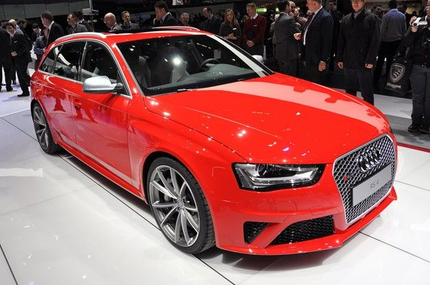 2013 Audi RS4 Avant, confirmed with the 4.2L V8 good for 450 HP, that means a 0-60 time in the high 4 second range.  Top speed is limited to 155 mph, with some conjecture it can be reprogramed with no ECU limiter for a top speed of 174.  Full suspension customization and optional ceramic breaks take care of handling and stopping.  Audi is very up front in saying this model will not come to the US, but the next model may be a global release.  Already drooling, and praying... No pricing…