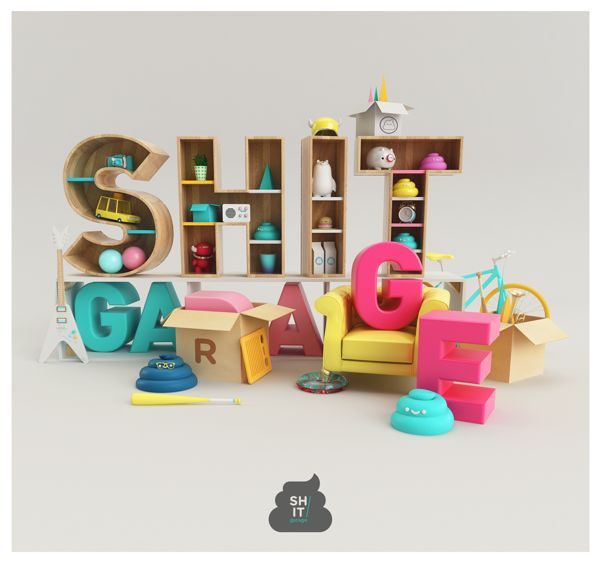 SHIT GARAGE POSTER!!! by AARON MARTINEZ, via Behance