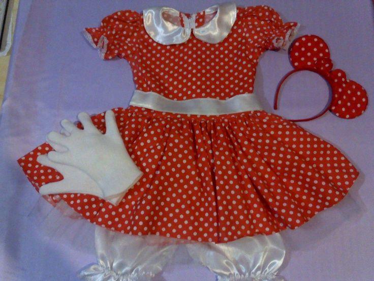 Disfraz Vestido De Minnie,con Accesorios Muy Completo!!! - $ 420,00 en MercadoLibre