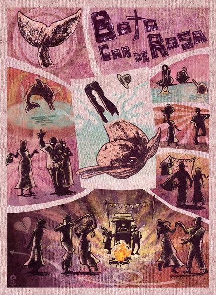 Poster Boto Cor de Rosa                                                                                                                                                                                 Mais