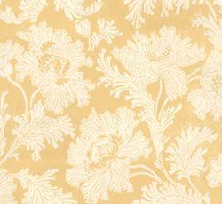 Lim & Handtryck Tapet - Hällestrand vit/gul