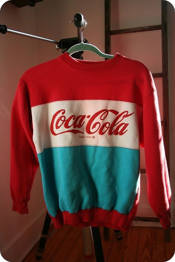 Coca Cola red and blue sweater