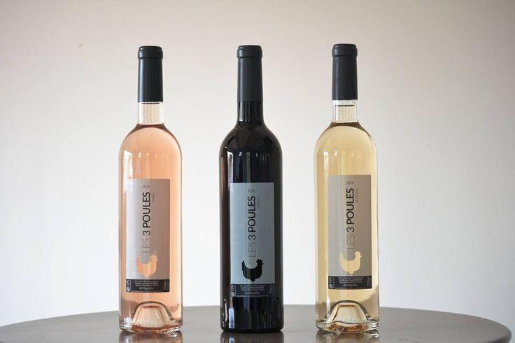 Notre vin, les 3 Poules Blanc, Rosé et Rouge
