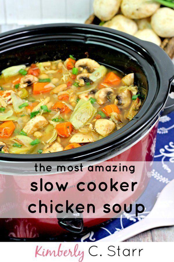 Hearty Chicken Soup Recipe Chicken Soup Recipes Vegan Soup Recipes Crockpot Recipes