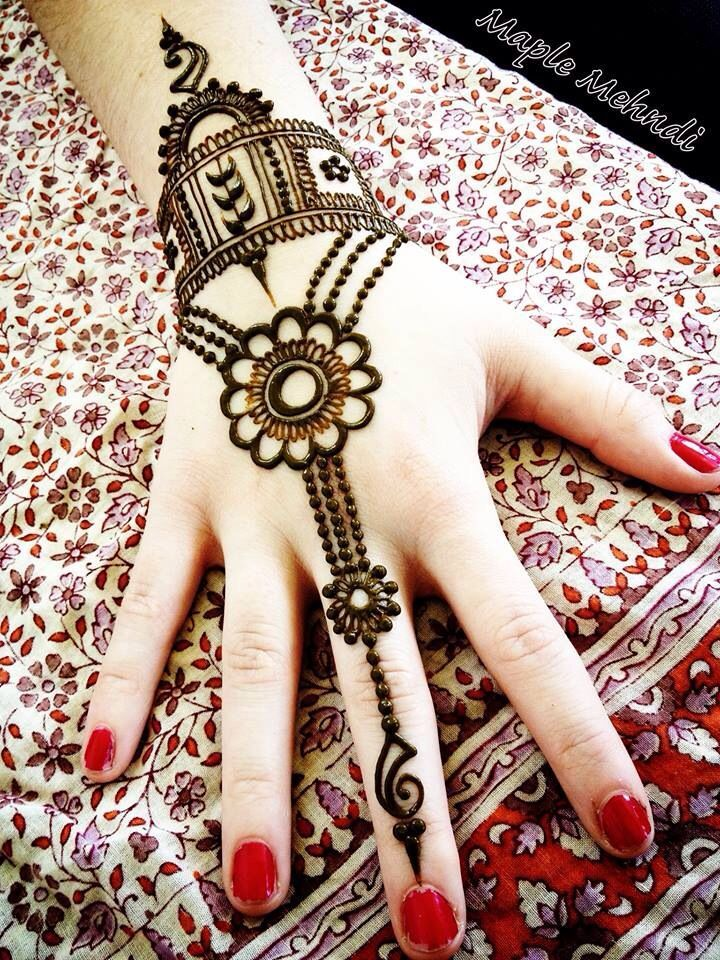 Henna ~ Mendhi except i wud want it up the ring finger not the middle finger.