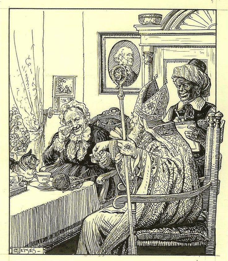 Sinterklaas op bezoek, 1934, Cornelis Jetses 1873-1955 (2)