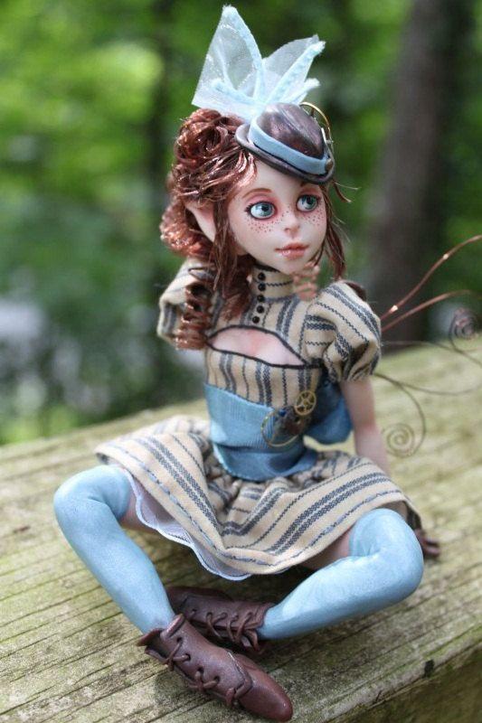 Victoria Steampunk Myxie Sculpture. $200.00, via Etsy.