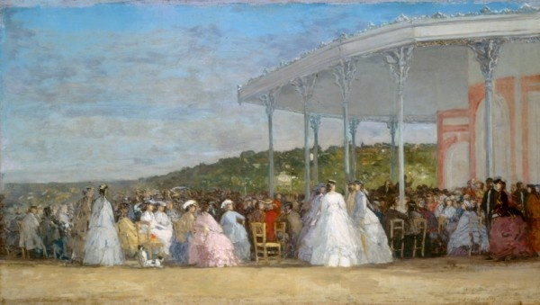 Eugène Boudin, Concert au Casino de Deauville, 1865, Huile sur toile, 41.7 x 73 cm National Gallery of Art, Washington, Collection of Mr. And Mrs. Paul Mellon Courtesy National Gallery of Art, Washington