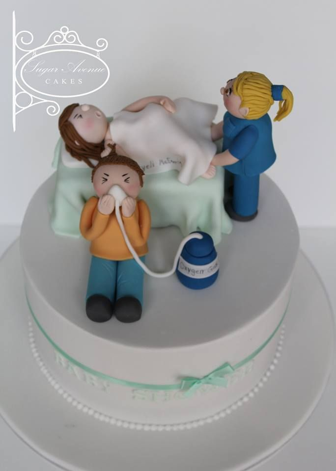 Baby Shower Cake with a sense of humor :)