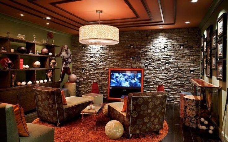 20 amazing sports themed basement designs man cave decor on incredible man cave basement decorating ideas id=85643