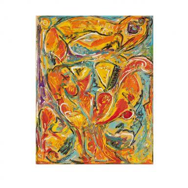 Carl Henning Pedersen || fuglen og frugten || 1938 || Paint of canvas