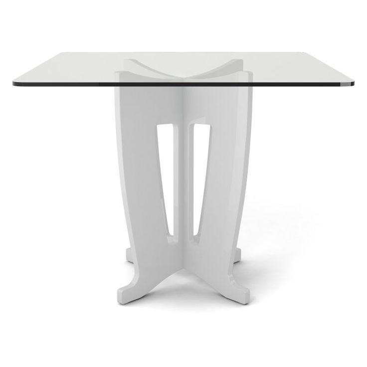 Glossy White Contemporary Clear Temper Glass Sleek Modern: 1000+ Ideas About Glass Top Dining Table On Pinterest