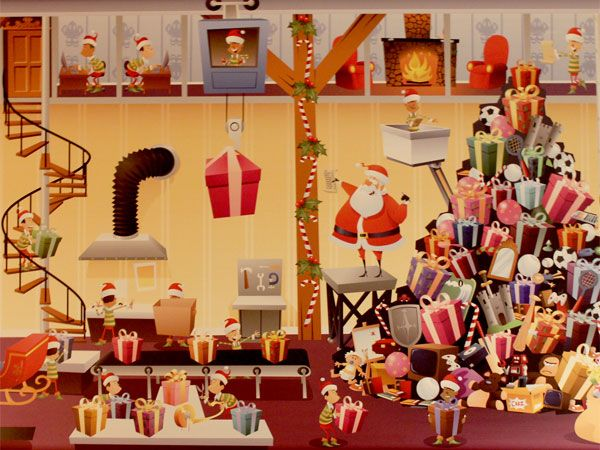 サンタさんがみんなのプレゼントを準備中!(Happy♪ Merry♪ クリスマスルーム @2014/11/14~12/25)