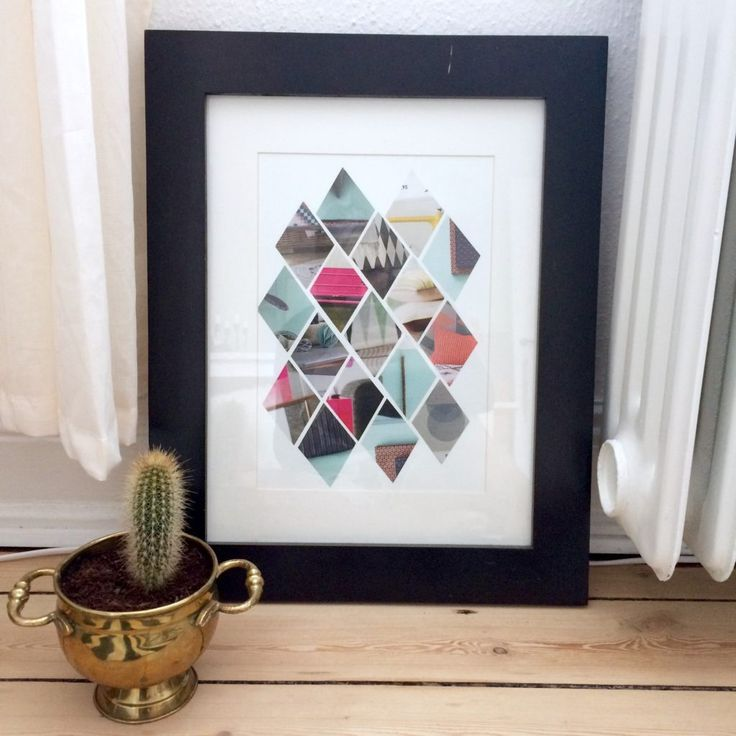 Harlequin checkers is Great . Here is a guide on how to easily create your own art for your home using a paper punch and a magazine with large images.