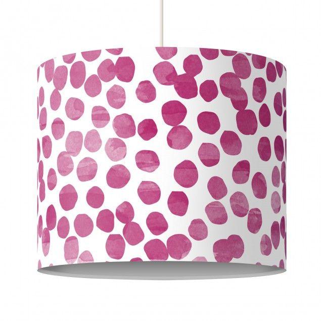 Pendelleuchte Punktemuster #Pink #Lila - Lampe - Lampenschirm #Punkte Hängeleuchte #Lampe #Hängelampe #mit #Motiv #Druck #Leuchte #Pendelleuchte #rund #bedruckt #xxl