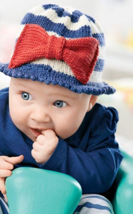 Knitting Pattern Baby Sun Hat : Nautical Sun Hat crochet / knit baby / toddler Pinterest Sun hats, Knit...