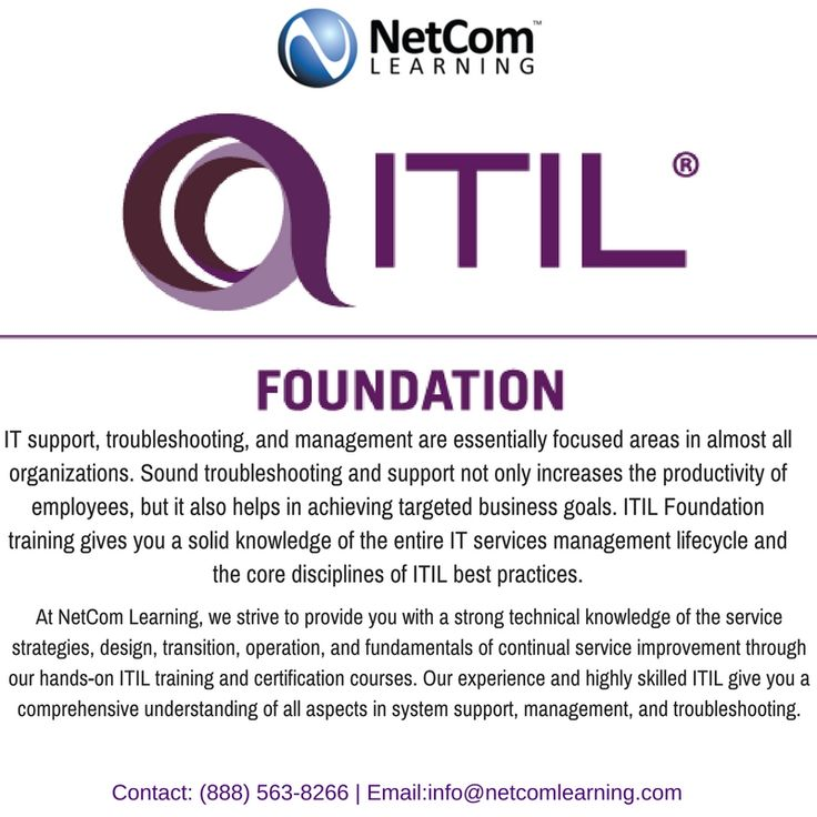 27 Best Itil Foundation Certification Training Images On Pinterest