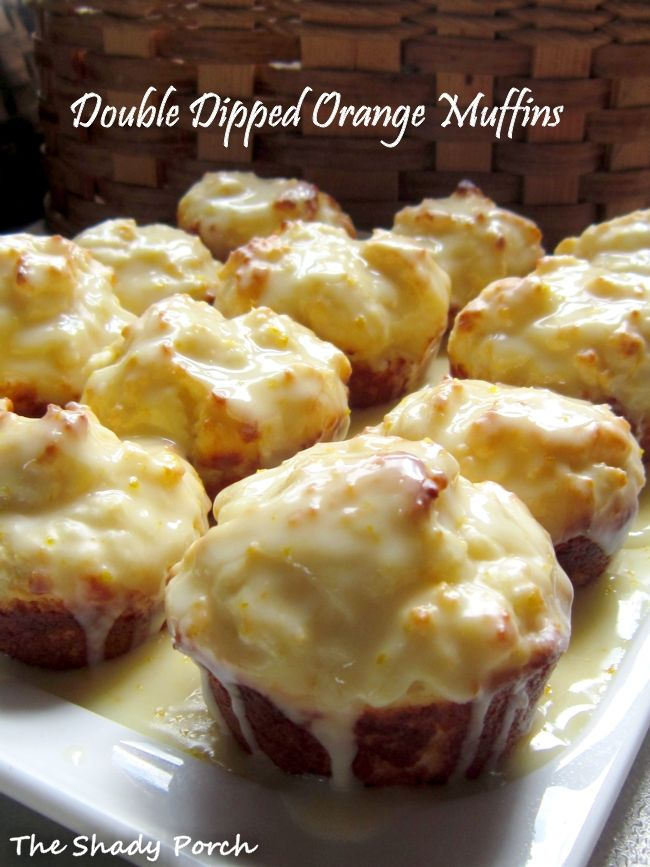 The Shady Porch: Double Dipped Orange Muffins