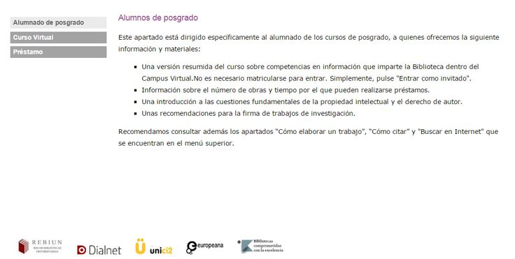 RECURSOS PARA POSGRADO (http://www.ull.es/view/institucional/bbtk/Alumnado_de_posgrado_1/es)