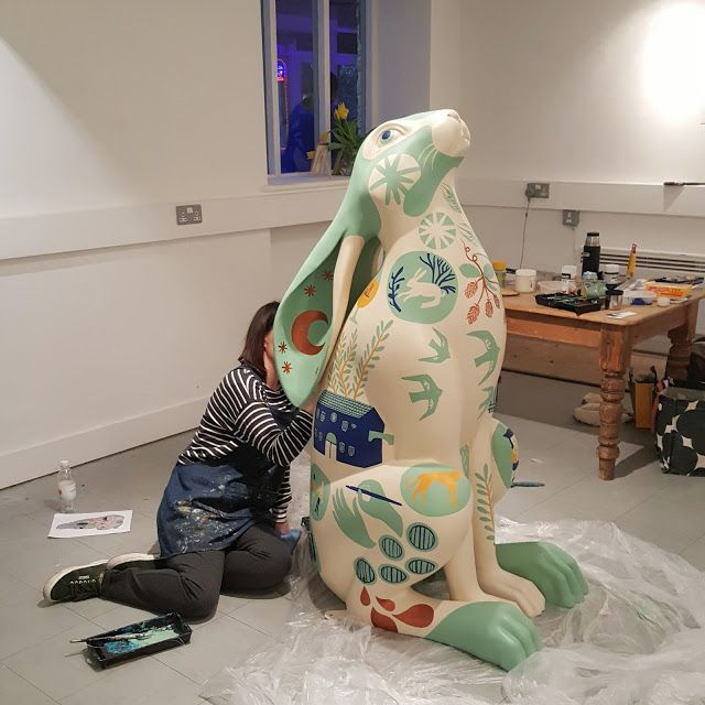 Luna Hops for #cotswoldharetrail by Stephanie Cole  Sponsored by New Brewery Arts, Corinium Ales and Geoff Carr Garden Design